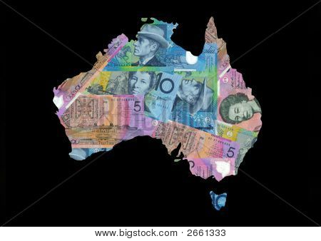 Map Of Australia With Dollars