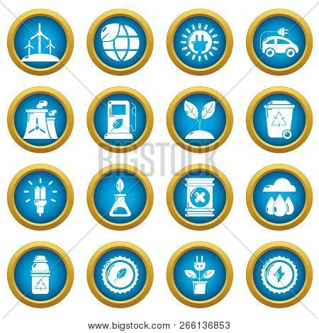 Ecology Icons Set. Simple Illustration Of 16 Ecology Icons For Web