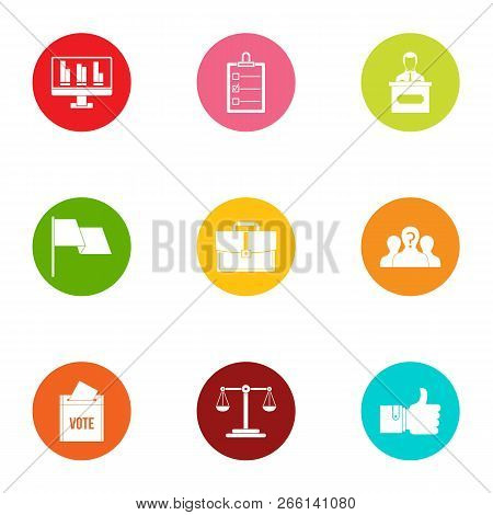 Urban Statistics Icons Set. Flat Set Of 9 Urban Statistics Icons For Web Isolated On White Backgroun