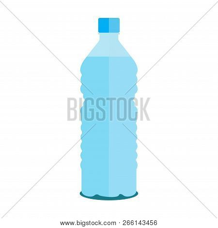 Vector Small Bottle Of Pure Water On A White Background