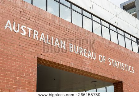 Geelong, Australia - October 14, 2018: The Australian Bureau Of Statistics Is The Independent Statis