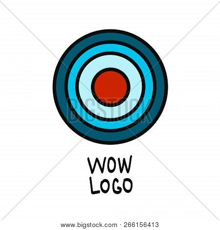 Red Aim, Idea Concept, Perfect Hit, Winner, Target Goal Icon. Success Abstract Pin Logo