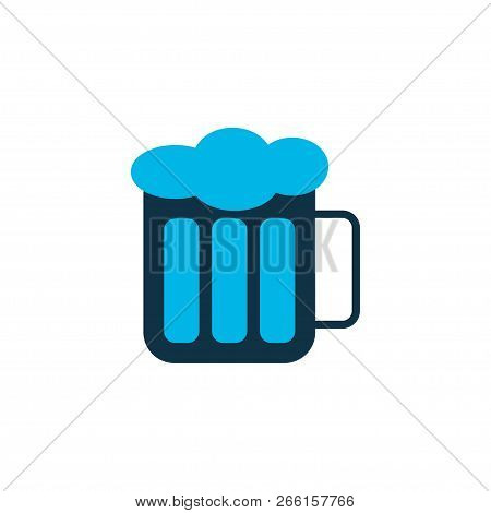 Beer icon colored symbol. Premium quality isolated froth element in trendy style. poster