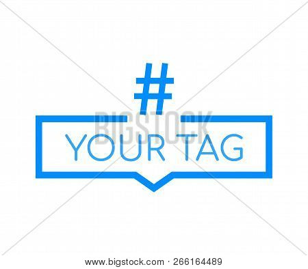 Hashtag, Communication Sign. Abstract Illustration For Your Design. Vector Stock Illustration.