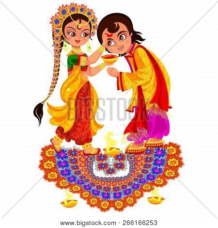 Diwali Holiday And Bhai Dooj Day Religious Rite