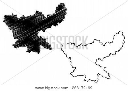 Jharkhand (states And Union Territories Of India, Federated States, Republic Of India) Map Vector Il