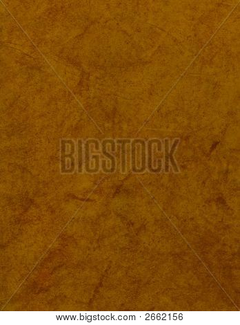 Brown Leather With Orange Highlights