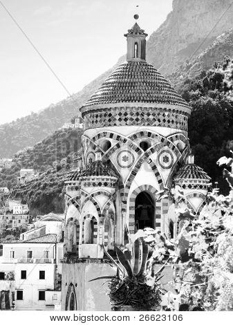 Amalfi the arab bell tower of the cathedral of holy Andrew