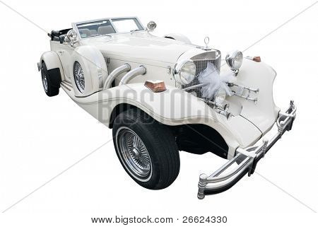 white car old style