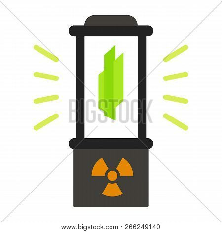 Nuclear Fusion Box Icon. Flat Illustration Of Nuclear Fusion Box Vector Icon For Web Design