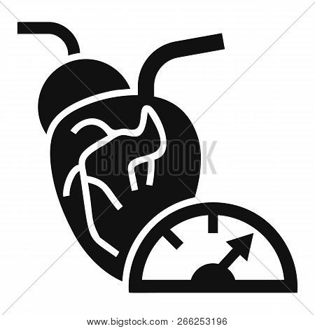 Heart Pump Icon. Simple Illustration Of Heart Pump Vector Icon For Web Design Isolated On White Back