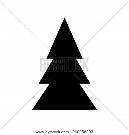 Black Symbol Fir Tree Vector Photo Free Trial Bigstock