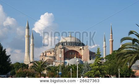 Aya Sofya Mosque in Istanbul, Turkey