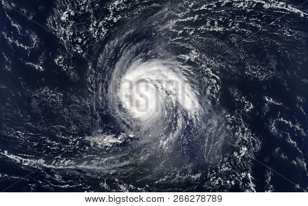 Tropical Hurricane Over The Ocean.elements Of This Image Are Furnished By Nasa.