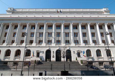 National Bank of Romania in Bucharest near Lipscani Street
