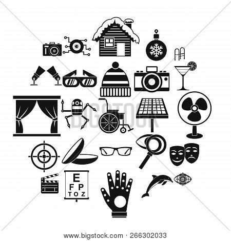Specs Icons Set. Simple Set Of 25 Specs Vector Icons For Web Isolated On White Background