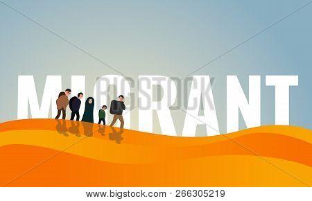 Dessert Migrant Day Concept Banner. Cartoon Illustration Of Dessert Migrant Day Vector Concept Banne