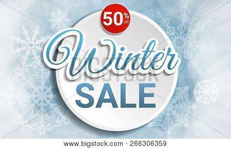 Final Winter Sale Concept Banner. Cartoon Illustration Of Final Winter Sale Vector Concept Banner Fo