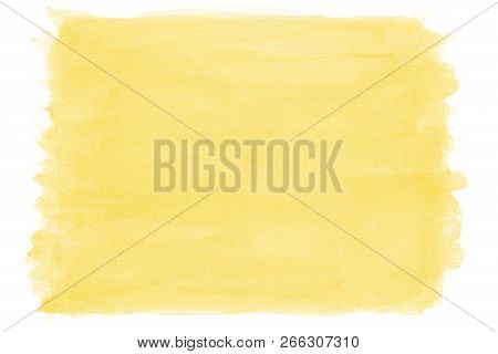Hand-painted Yellow Watercolor Background With Brush Stroke Texture