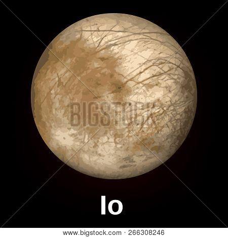 Io Planet Icon. Realistic Illustration Of Io Planet Vector Icon For Web Design