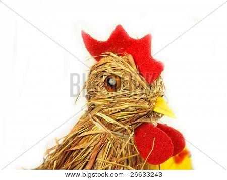 Easter hen made of straw stalks