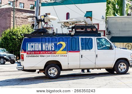 Atlanta, Georgia - May 3, 2015: Wsb-tv Is An Abc-affiliated Television Station And Is The Flagship T