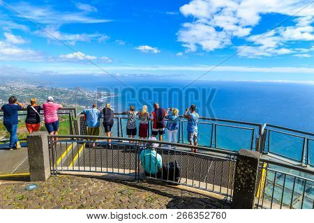 Cabo Cirao/maderia - Portugal - 10/12/18 - The View From The Glass Walkway At Cabo Girao - Maderia -