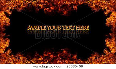 Fire frame with free space for your text