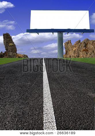 BIg blank billboard