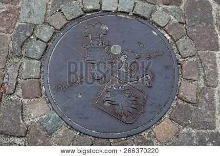 Manhole In Malmo In Sweden. Malmo, Scania, Sweden.