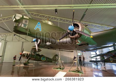 Linkoping, Sweden - Jul 21, 2011: Junkers Ju-86 Luftwaffe Bomber Plane On Display In The Swedish Air