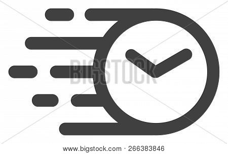 Clock Icon With Fast Speed Effect. Vector Illustration Designed For Modern Abstract With Symbols Of