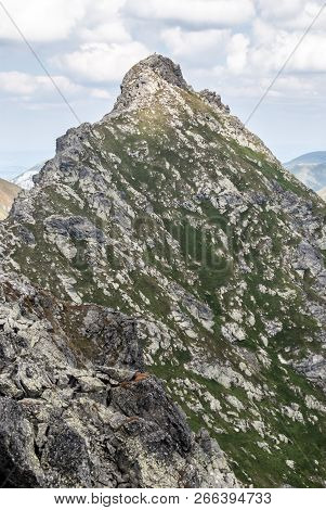 Sharp Ostry Rohac Mountain Peak On Rohace Mountain Group In Zapadne Tatry Mountains In Slovakia