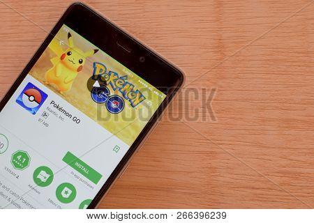 Bekasi, West Java, Indonesia. November 2, 2018 : Pokemon Go Dev App With Magnifying On Smartphone Sc