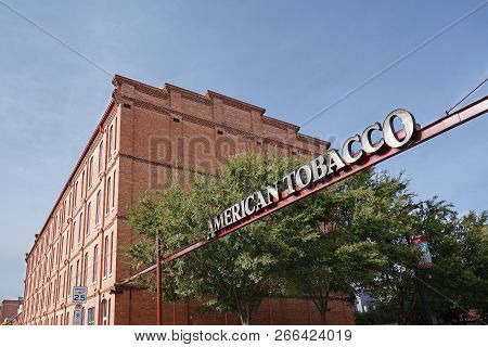 Durham,nc/usa - 10-23-2018: American Tobacco Complex In Downtown Durham, Which Includes Restuarants