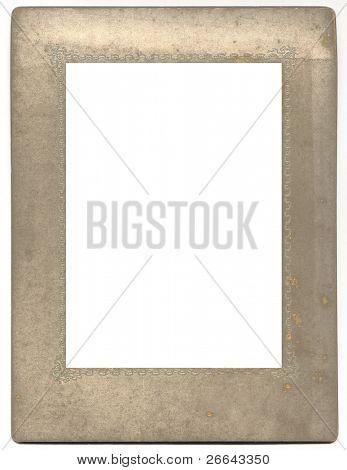 Vintage photo frame, isolated on white