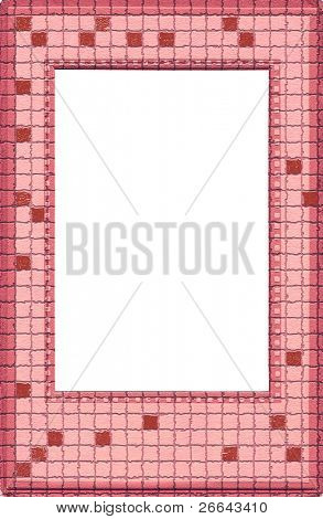 Stylized pink tiles frame
