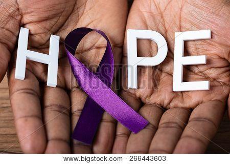 Ribbon To Support Alzheimer's Disease Awareness