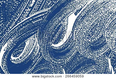 Grunge Texture. Distress Indigo Rough Trace. Exceptional Background. Noise Dirty Grunge Texture. Jui