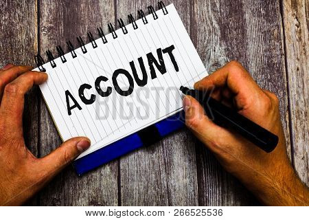 Writing Note Showing Account. Business Photo Showcasing Record Statement Financial Movements Relatin