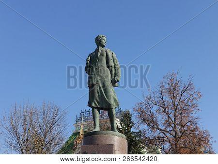 Tambov. Russia. October 23, 2018 Monument To Zoya Kosmodemyanskaya In Tambov Russia. Zoya Kosmodeyan