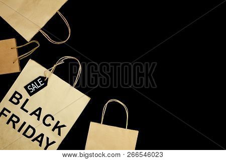 Craft Paper Shopping Bag From Shopping Mall With Text