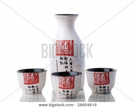 Japanese style Sake set for three person