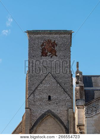 The Charlemagne Tower Is A Remnant Of An Old Basilica Dedicated To Saint Martin De Tours And Located