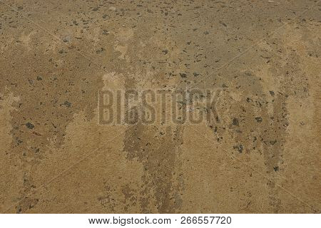 Gray Stone Background From Dirty Concrete Wall In The Foundation Of A House