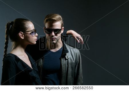 Love You So Much. Couple In Love. Couple Of Man And Woman Wear Fashion Glasses. Love Relations. Frie