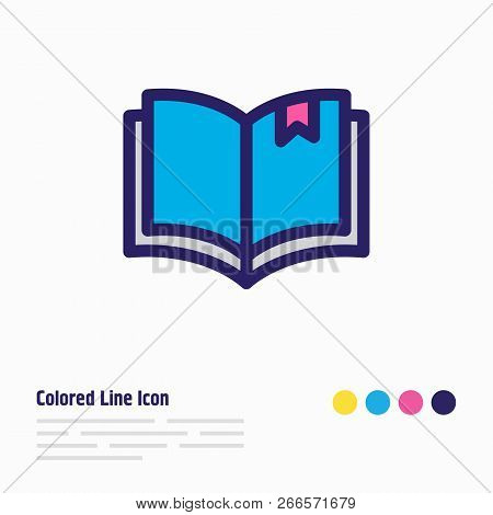 Vector Illustration Of Read Icon Colored Line. Beautiful Read Element Also Can Be Used As Book Readi