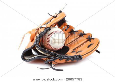 Baseball glove and ball with velcro for easier catch