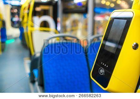 Ticket reader in a bus