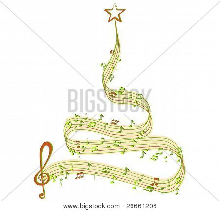 Winter tree of music